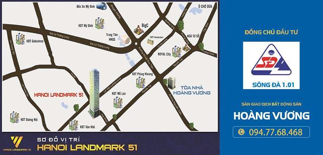 Vị trí Chung cư Cao cấp Hà Nội Landmark 51