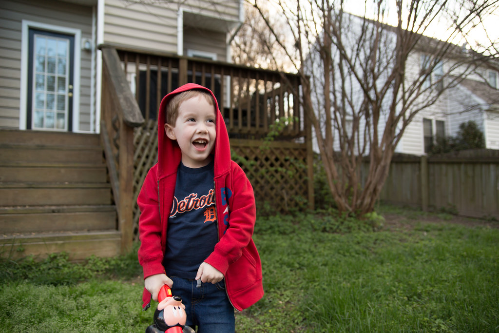 Liam laughing