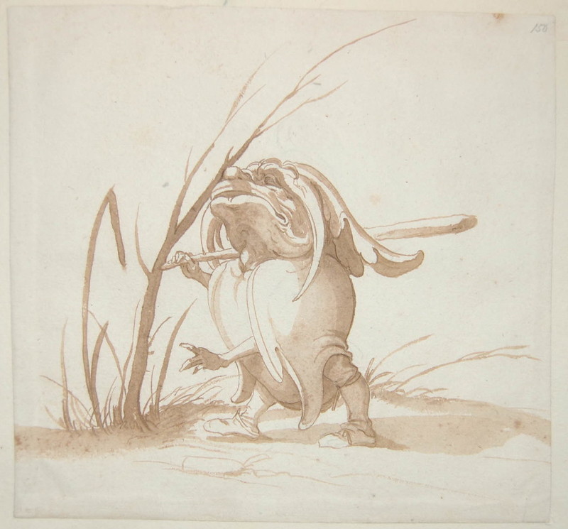 Arent van Bolten - Monster 150, from collection of 425 drawings, 1588-1633
