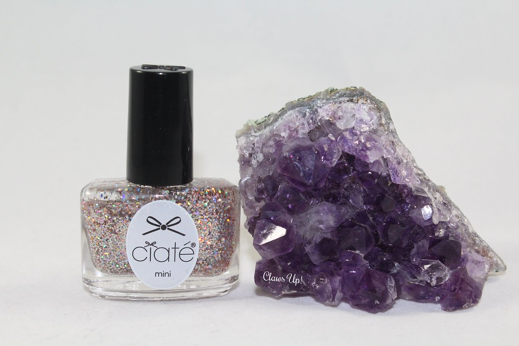 Ciate Purple Rainbow swatch, purple rainbow nail art.