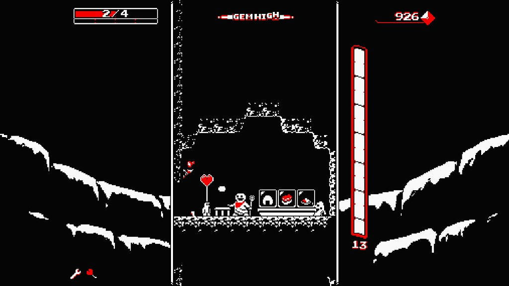 Downwell, PS4 and PS Vita
