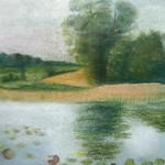 Banater Flusslandschaft, Pastellkreide