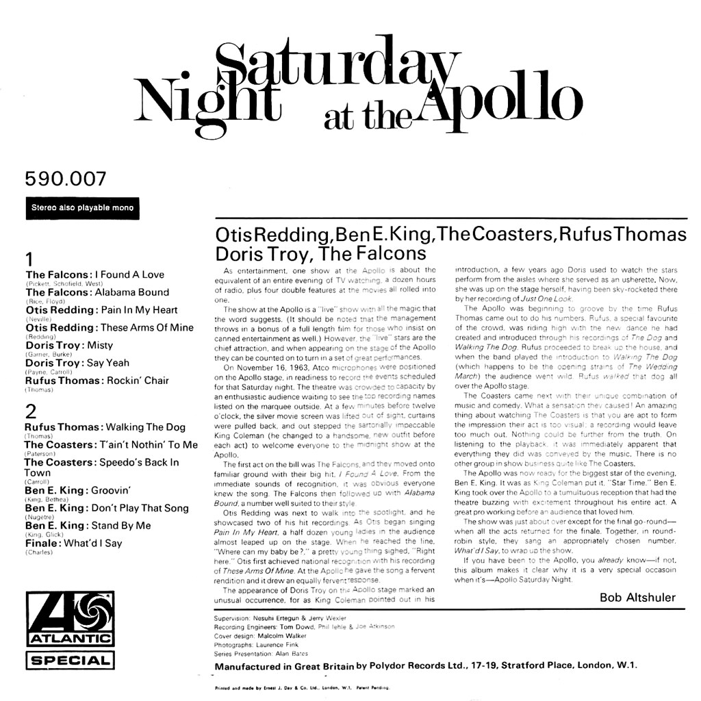 Various Artists - Saturday Night at the Apollo