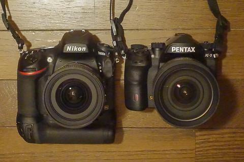 PENTAX K-1とNikon D800E
