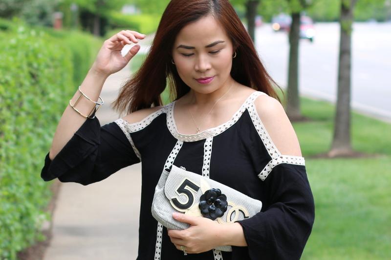 Reeds-Jewelers-necklace-heart-hoop-earrings-black-cold-shoulder-dress-8