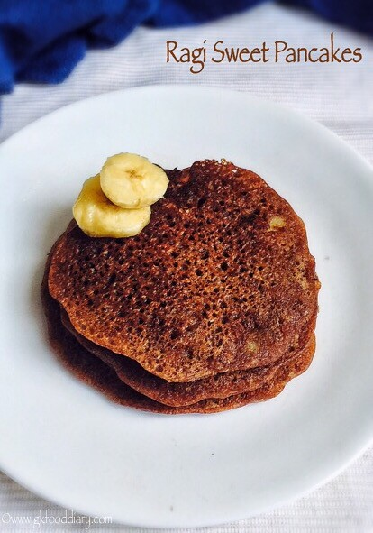 Ragi pancakes recipe for babies, toddlers and kids