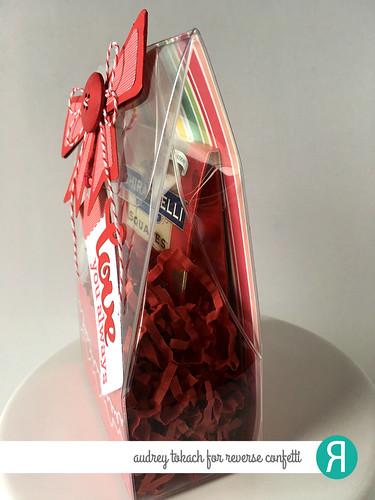 Reverse Confetti Valentine Box