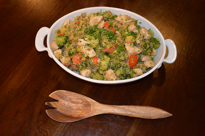 Chicken And Garden Veggies Quinoa Skillet