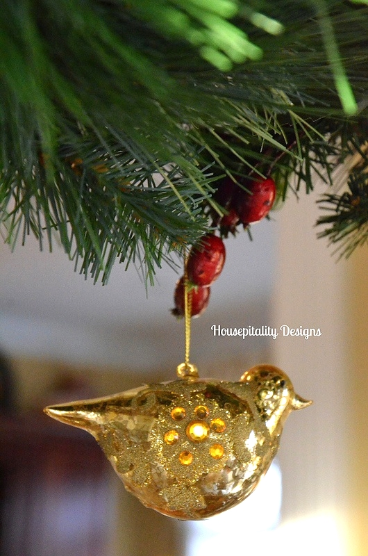 Gold Bird Ornament - Housepitality Designs