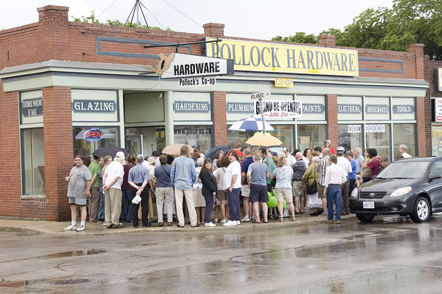 The Grand Re-Opening of Pollock's Hardware Co-op