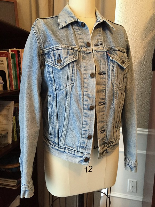 Denim & Leather Jacket - Before