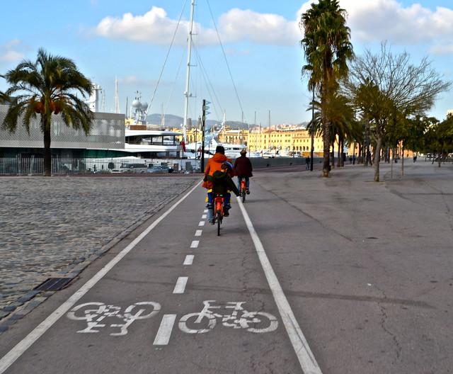 barcelona city tour - bike lanes