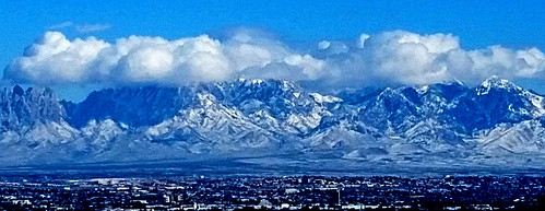 Organ Mountains Snowfall