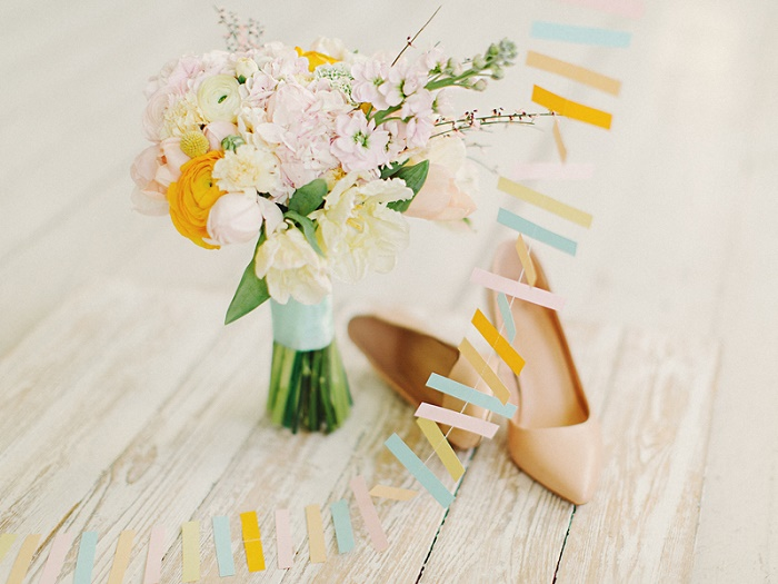 pastel bouquet | Modern Whimsical Wedding Inspiration Full of Colour | itakeyou.co.uk