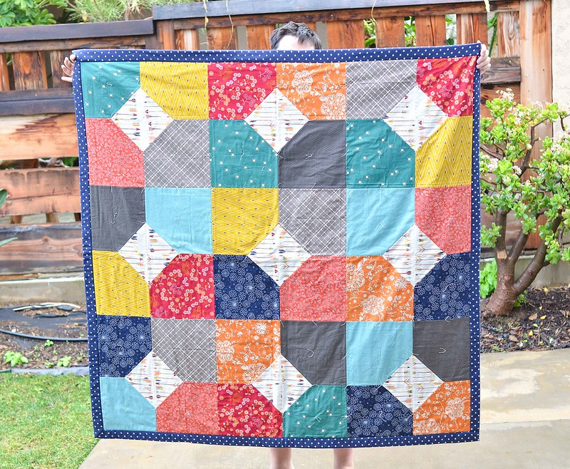 layers of charm picnic quilt