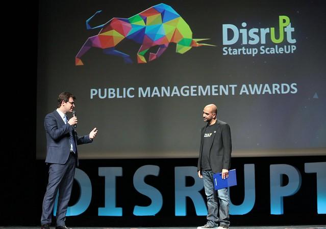 Βράβευση στην κατηγορία Public Management 2014 του Διεθνούς Συνεδρίου Disrupt StartUp