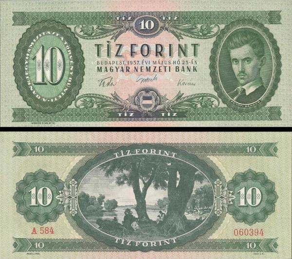 10 Forintov Maďarsko 1957