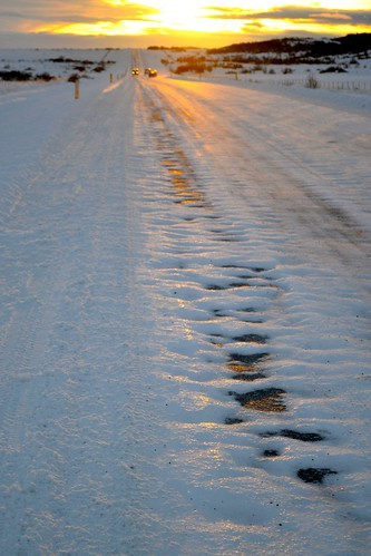 This was the general condition of the roads all day, incidentally.
