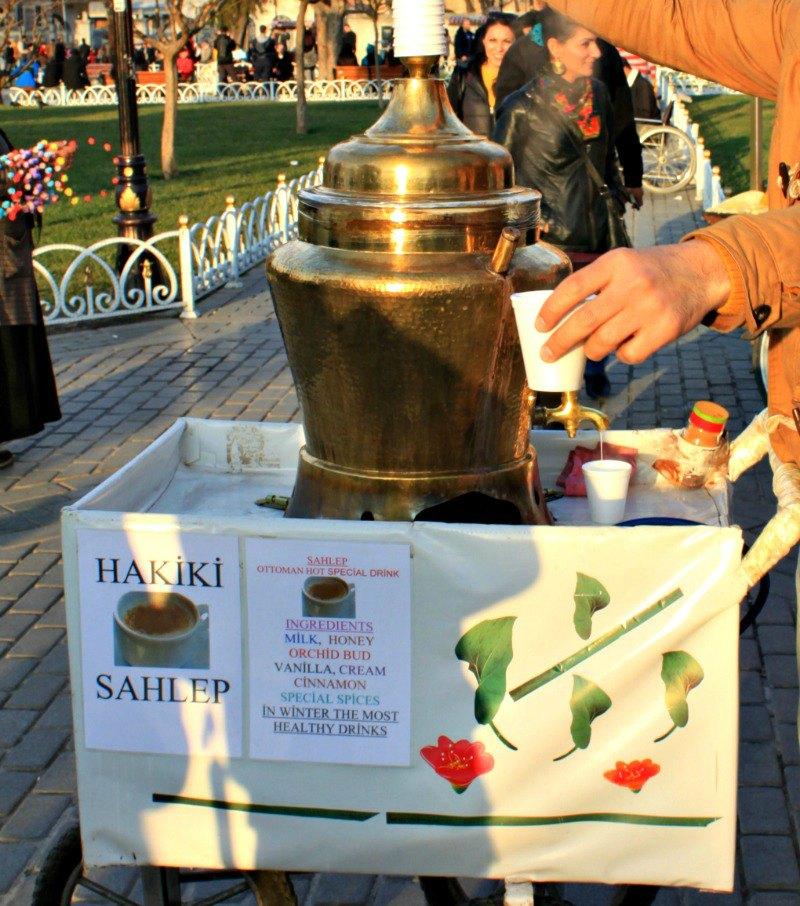 Salep vendor at Sultanahment Square, Istanbul, Turkey