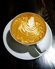 Have you had our Afternoon Cocktail espresso? It's On Tap right now. Yum! #espresso #latteart #caffedbolla #slc #coffee