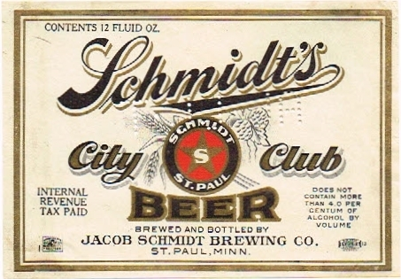 Schmidts-City-Club-Beer--Labels-Jacob-Schmidt-Brewing-Company