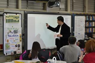 February 01-10 '16 Li Mianjun hosting abacus class at Barnard Elementary