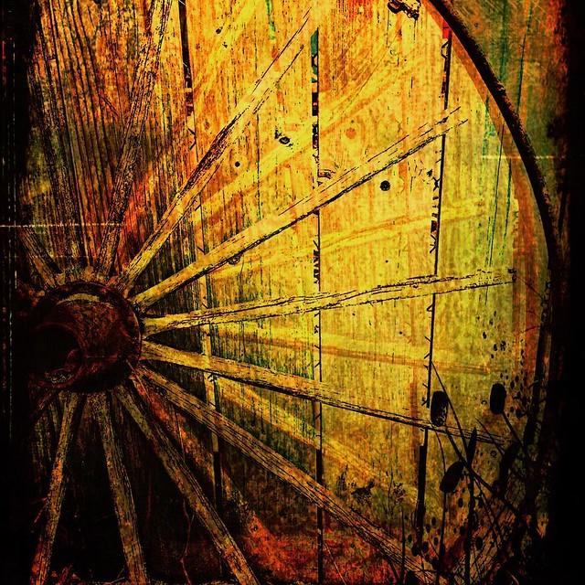 Wagon wheel, iPhone artistry