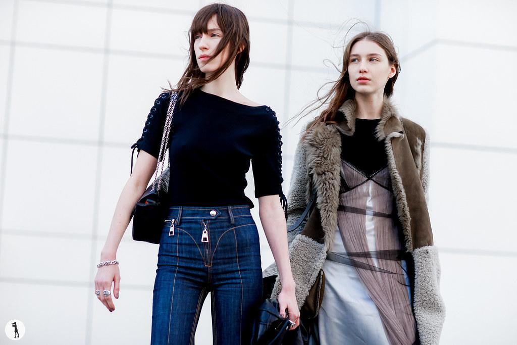 Models Alix Angjeli and Sofia Tesmenitskaya - Paris Fashion Week RDT FW16-17 (1)