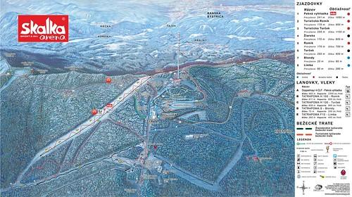 Skalka Arena Kremnica - mapa sjezdovek