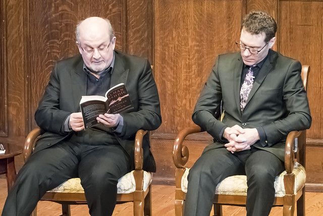 Salman Rushdie and Jack Perla