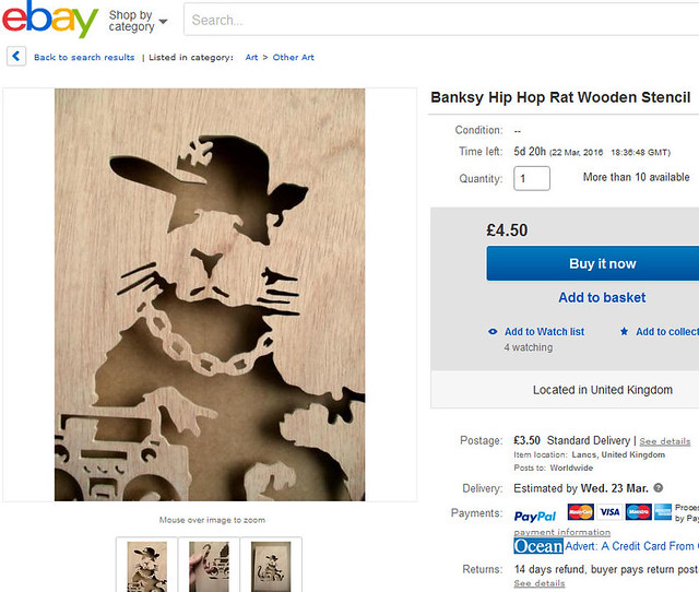 Ebay Banksy Stencil