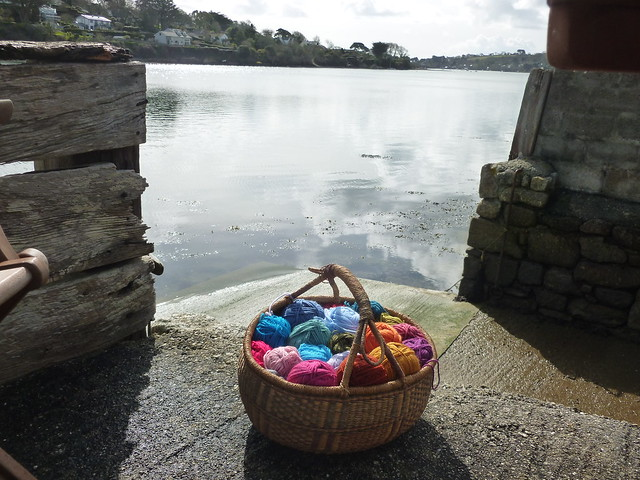 Yarn and sunshine and views of the water