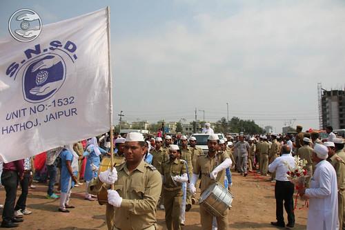 Sewa Dal Band leads the procession