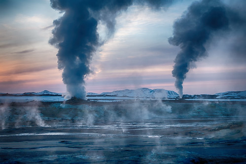 winter hot sunrise island is iceland steam hotspring sonnenaufgang vapour vapor heiss dampf rx100 norðurlandeystra heissequelle rx100m4