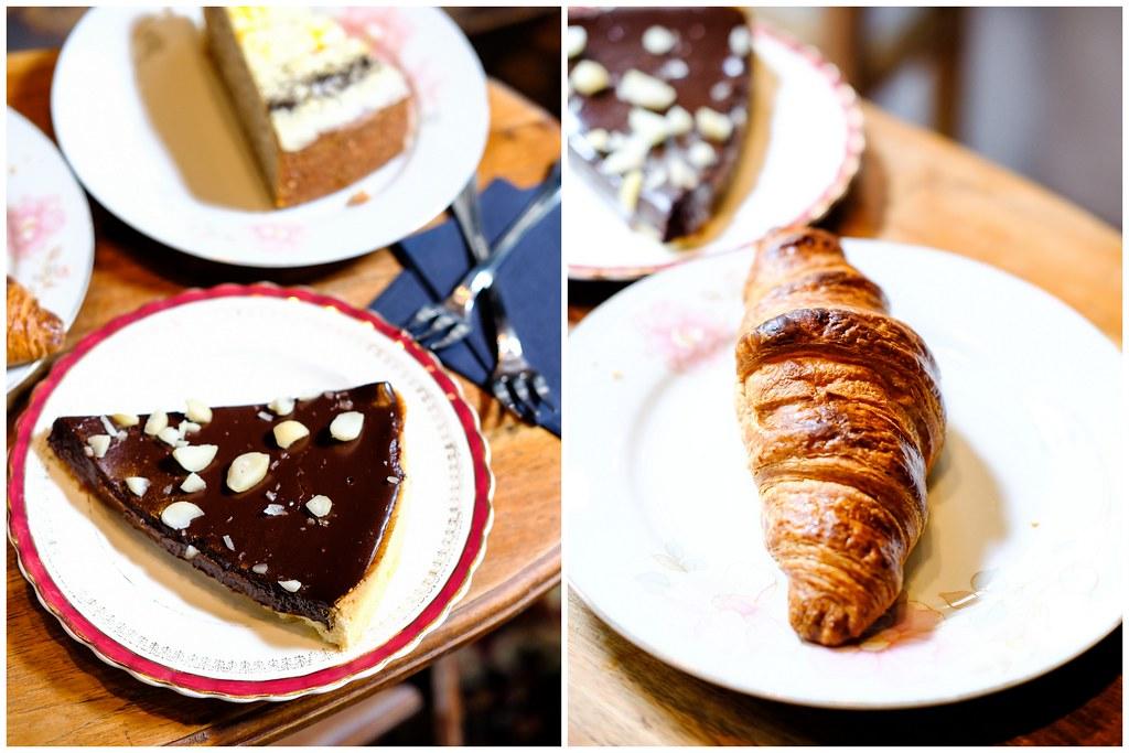 Gemmills by Maggie Joan's chocolate tart & Croissant