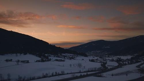 winter sunset orange white mountain snow salzburg fog austria nikon radstadt d5300
