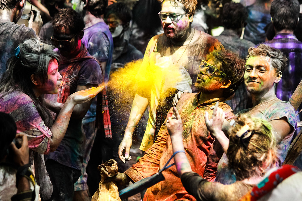 Holi Festival in Jahangirnagar University, Dhaka