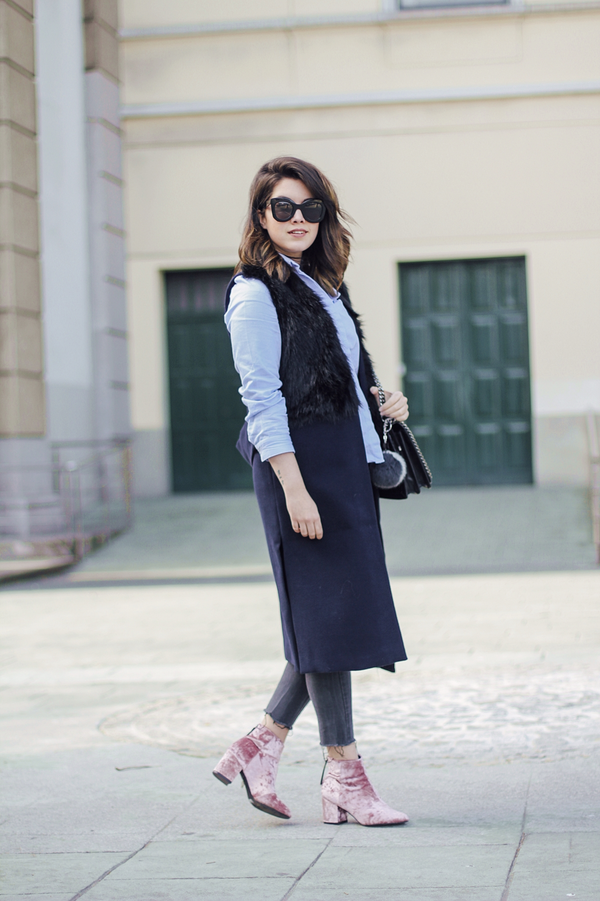 hot to wear velvet booties from asos celine sunglasses myblueberrynightsblog