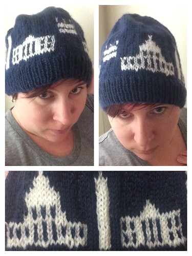 A Capitol Hat (pattern on Ravelry), to represent my current/hometown, Washington DC.