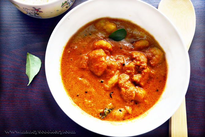 Shrimp / prawn Curry - Indian style Recipe