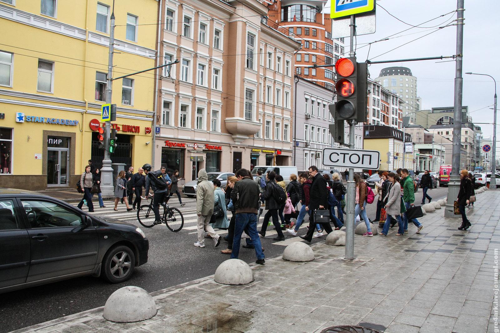 Новый наземный переход рядом с подземным, Москва, Новослободская