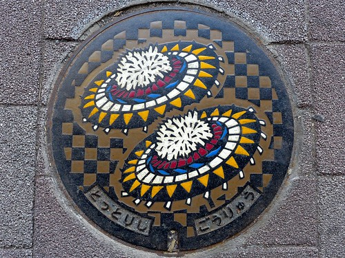 Tottori city Tottori pref, manhole cover 2 (鳥取県鳥取市のマンホール2)