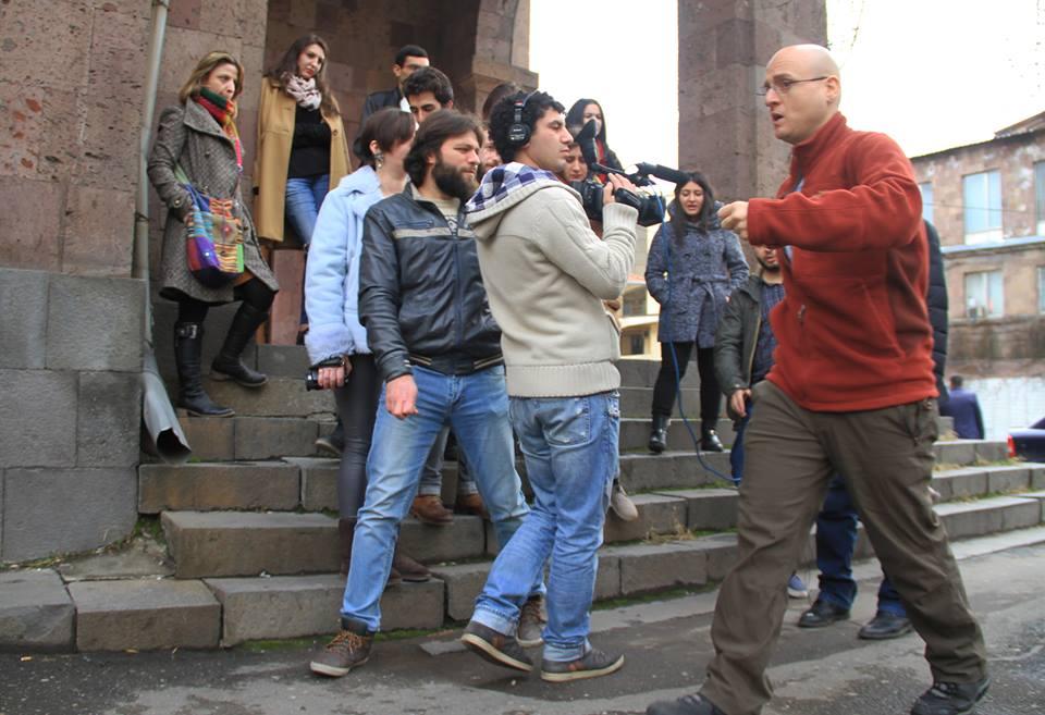 Edmond Sabella during his master class in Yerevan