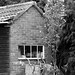 Black & White Shed by AliceWilliamsPhotography