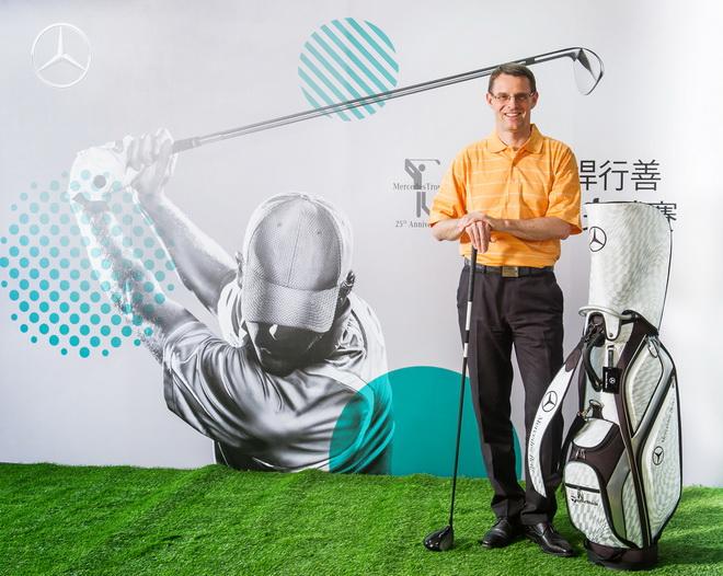 台灣賓士邁爾肯總裁宣布2016「Mercedes-Benz揮桿行善國際高爾夫球賽」將於5月3日正式開賽