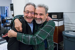Michael Maso and playwright and director Craig Lucas