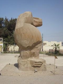 Thoth as baboon, statue in Hermopolis/El Ashmunein