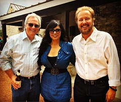 With television guru Bruce Kates and Arts host Melina Narezo at the @klrntv Boots, Beer & BBQ event on Sunday.   #KLRN #PBS #KLRNworthwatching