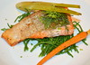 Fillet of Salmon, Samphire, Braised Celery, Carrot