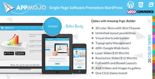 App Mojo v2.9 – Responsive Single Page Promotion Theme
